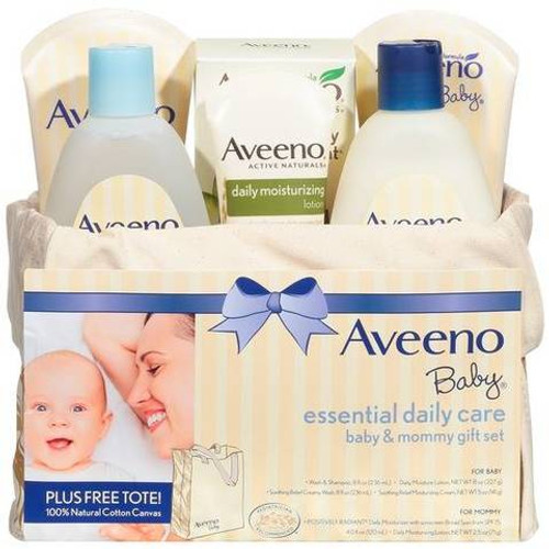 Aveeno Baby Essential Daily Care, Mom & Baby, 6-Piece Gift Set