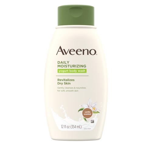 Aveeno  Daily Moisturizing Yogurt Body Wash, Vanilla & Oats, 18 oz