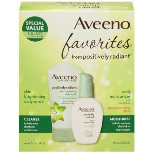 Aveeno  Positively Radiant Daily Scrub & Moisturizer Kit