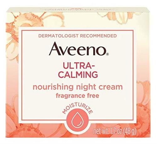 Aveeno  Ultra Calming Hydrating Nourishing Night Cream, Fragrance Free, 1.7 oz