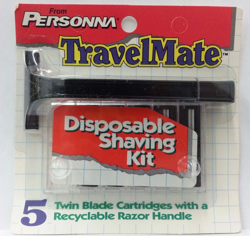 Personna TravelMate Twin Blade Razor + 5 Refill Cartridges (Holds All Trac II Cartridges)
