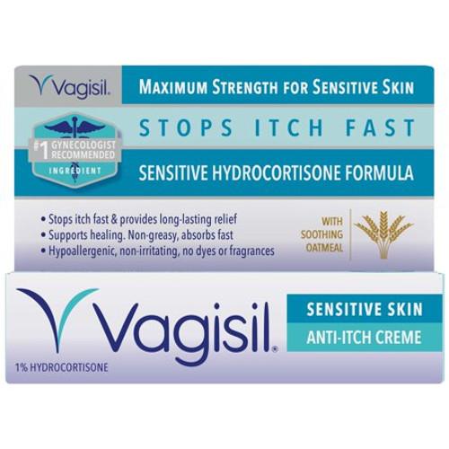 Vagisil Sensitive Skin Maximam Strength Medicated Anti-Itch Creme, 1 oz