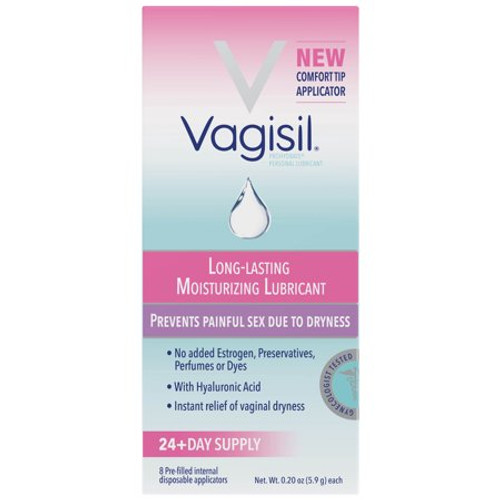 Vagisil Long Lasting Moisturizing Lubricant With Pre-Filled Applicators, 8 ct