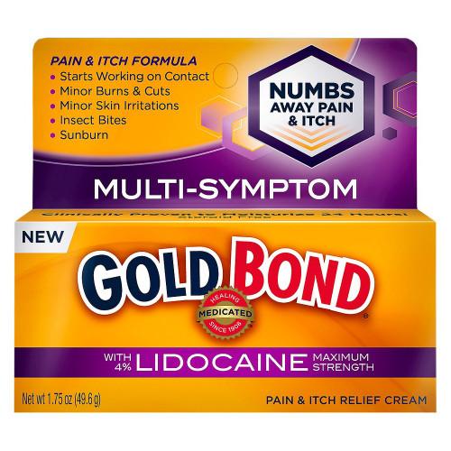 Gold Bond Multi Symptom Pain & Itch Relief Cream with Lidocaine, 1.75 oz