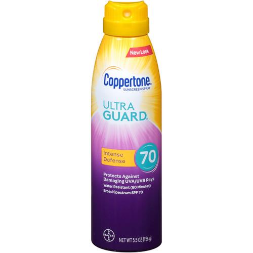 c32a0b82f8d9 Coppertone Ultra Guard Intense Defense Sunscreen Spray SPF 70, 5.5 oz