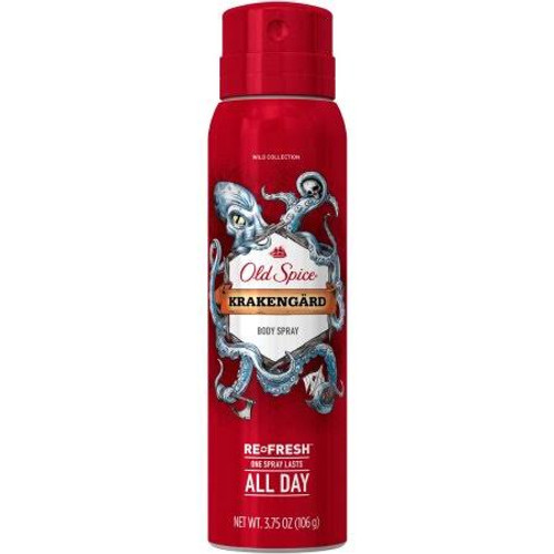 Old Spice Wild Collection Refresh Krakengard Body Spray, 3.75 oz, 1 Ea