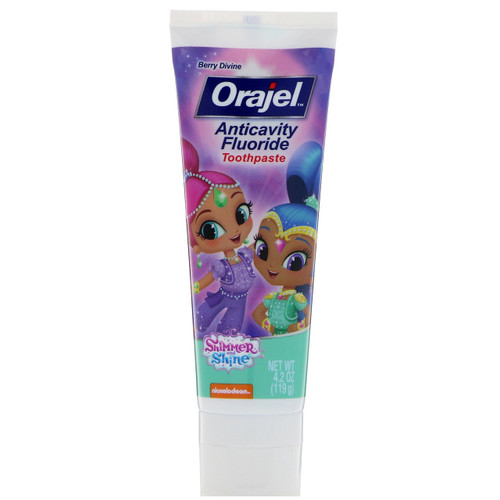 Orajel Shimmer & Shine AntiCavity Fluoride Toothpaste, Berry Devine, Characters May Vary, 4.2 oz, 1 Ea