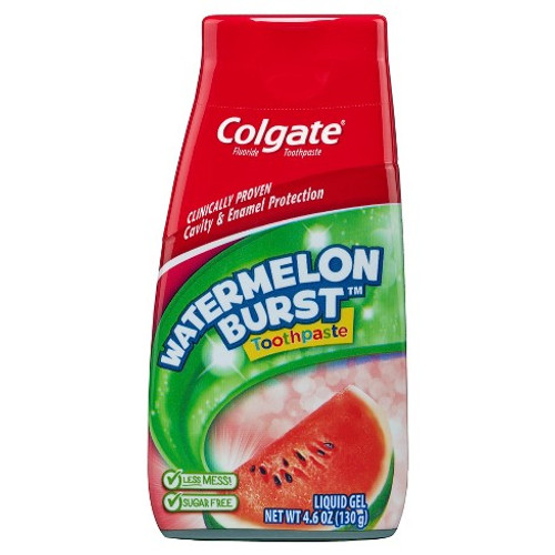 Colgate Cavity Protection Fluoride Liquid Gel, Watermelon Burst, 4.6 oz