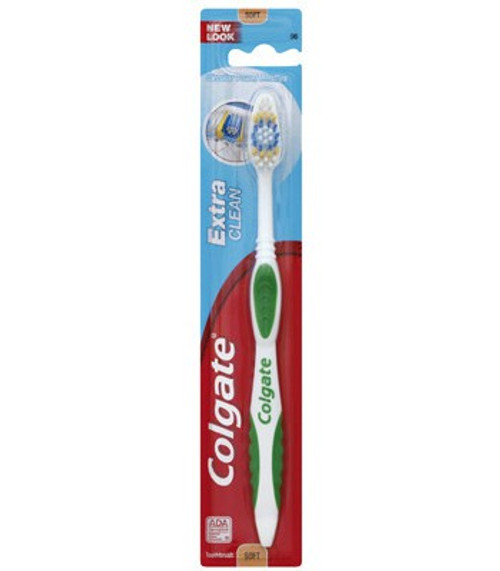 Colgate Extra Clean Full Head Toothbrush, Soft, Colors May Vary