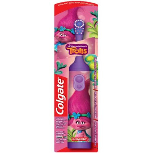 Colgate Kids Trolls Power Toothbrush, Extra Soft, Colors May Vary
