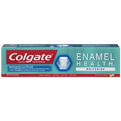 Colgate Enamel Health Whitening Relief AntiCavity Protection Fluoride Toothpaste, Clean Mint, 5.5 oz