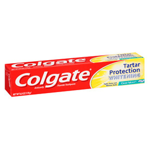 Colgate Tartar Protection + Whitening AntiCavity Protection Fluoride Toothpaste, Crisp Mint, 6 oz