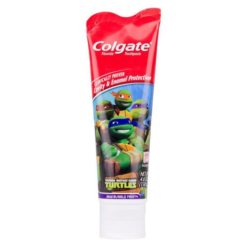 Colgate Kids Teenage Mutent Ninja Turtles Cavity Protection Fluoride Toothpaste, Mild Bubble Fruit, 4.6 oz