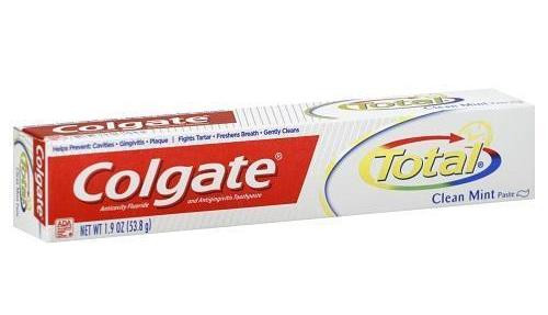 Colgate Total AntiCavity Protection Fluoride Toothpaste, Clean Mint, 1.9 oz