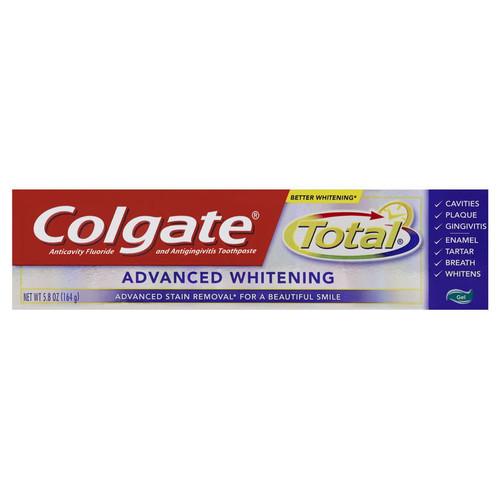 Colgate Total Advanced Whitening AntiCavity Protection Fluoride Gel, 5.8 oz