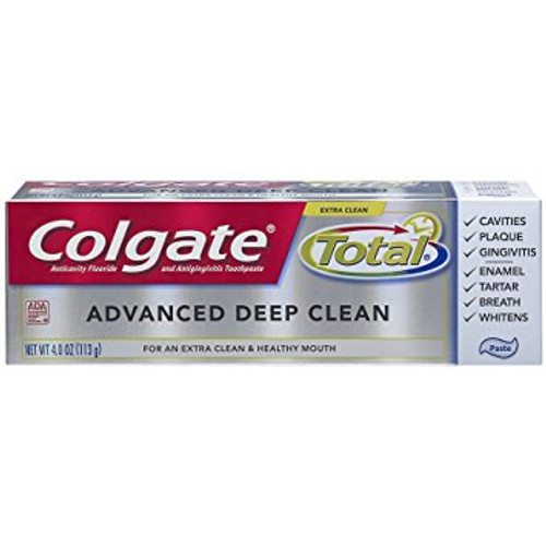 Colgate Total Advanced Deep Clean AntiCavity Protection Fluoride Toothpaste, 4 oz