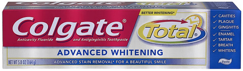 Colgate Total Advanced Whitening AntiCavity Protection Fluoride Toothpaste, 5.8 oz