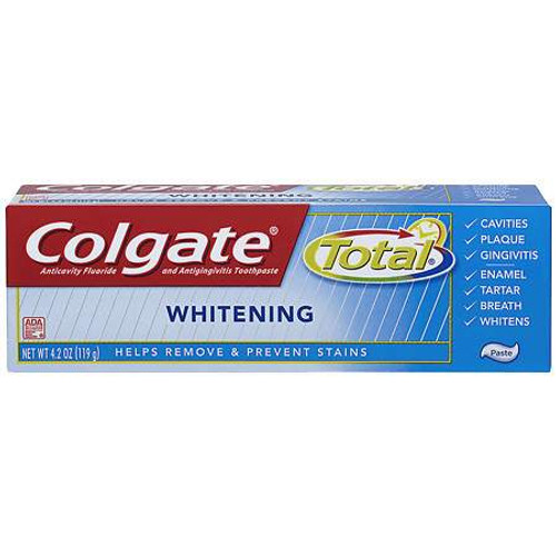 Colgate Total + Whitening AntiCavity Protection Fluoride Toothpaste, 4.2 oz