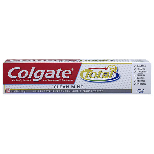 Colgate Total AntiCavity Protection Fluoride Toothpaste, Clean Mint, 7.8 oz