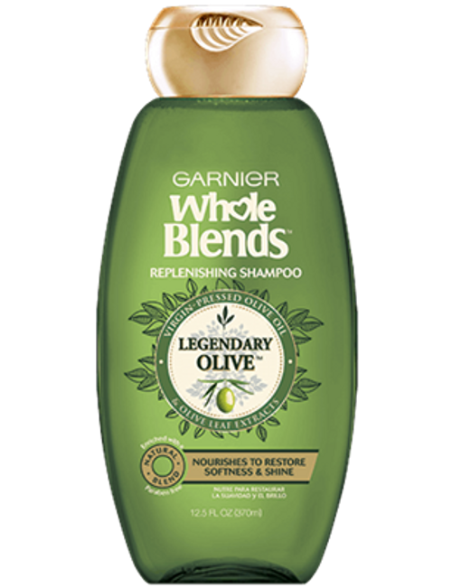 Garnier Whole Blends Olive Oils Replenishing Shampoo, 12.5 oz, 1 Ea