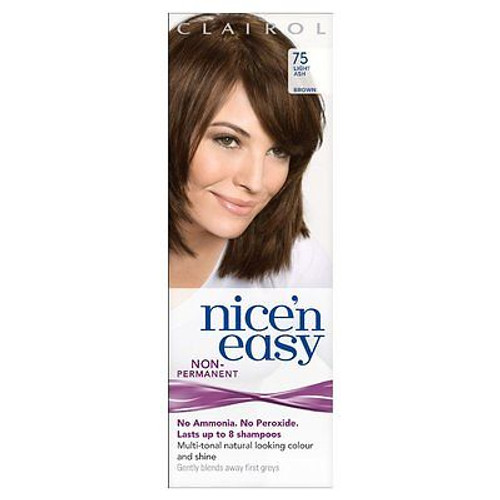 Clairol Nice'n'Easy Colourant by Loving Care Hair Color #75 Light Ash Brown (Made In The UK)