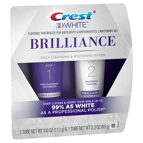 Crest 3D White Brilliance Cleansign & Whitening System Kit