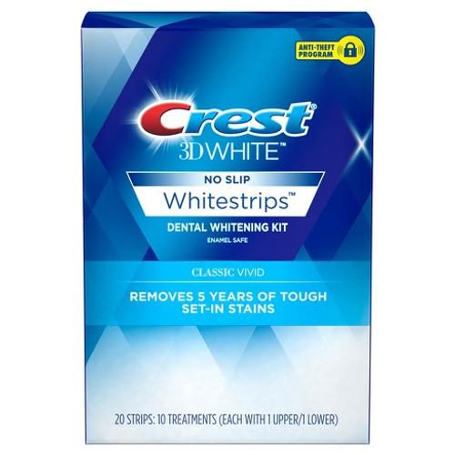 Crest 3D White, Classic Vivid White Strips, Dental Whitening Kit, 20 ct