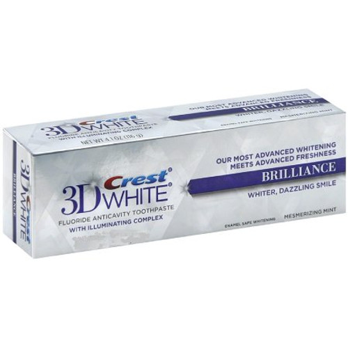 Crest 3D White Brilliance Anticavity Fluoride Toothpaste, Mesmerizing Mint, .85 oz