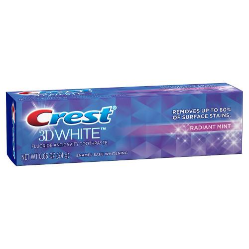 Crest 3D Radiant Mint Anticavity Fluoride Toothpaste, .85 oz