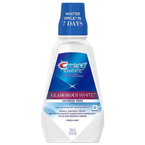 Crest 3D White Glamorous White Mouthwash, Fresh Mint, 946 Ml