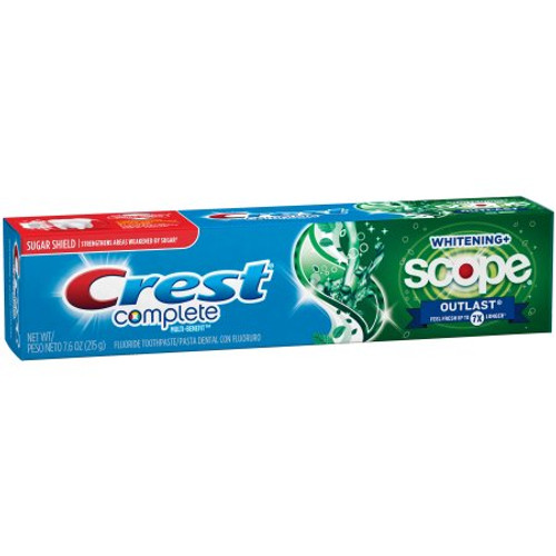 Crest Complete Multi-Benefit Whitening + Scope Outlast Anticavity Fluoride Toothpaste, 7.6 oz