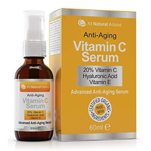 All Natural Advice Anti Aging Vitamin-C Serum + Dropper, 2 oz