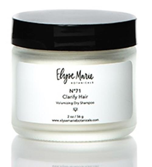 Elyse Marie Botanicals No 71 Clarify Hair, Volumizing Dry Shampoo, 2 Oz