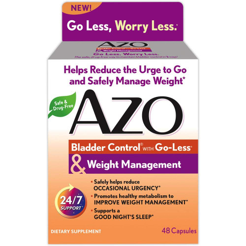 AZO Bladder Control with Weight Management Capsules, 48 ct