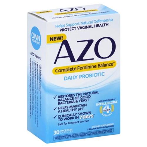 AZO Complete Feminine Balance Daily Probiotic Capsules, 30 ct