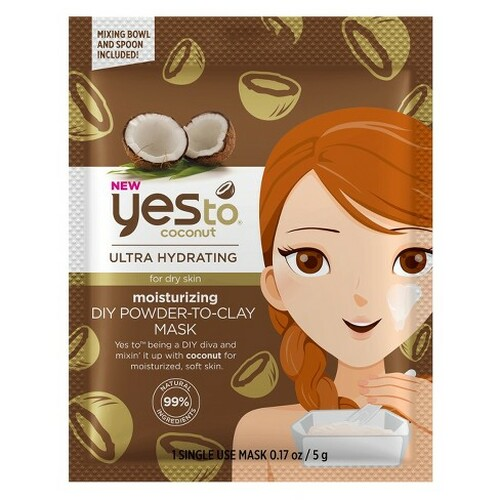 Yes to Coconuts Ultra Hydrating Moisturizing DIY Powder-To-Clay Mask, Single Use