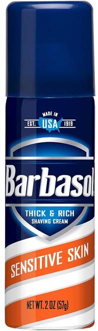 Barbasol Thick & Rich Shaving Cream, Sensitive Skin, 2 oz