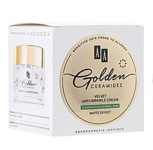 AA Golden Ceramides Velvet Anti-Wrinkle Cream, Combination - Normal Skin, Matte Effect, 1.7 Oz