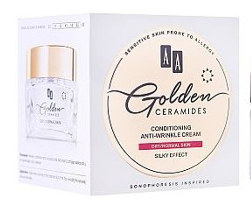 AA Golden Ceramides Conditioning Anti-Wrinkle Cream, Dry - Normal Skin, Silky Effect, 1.7 Oz