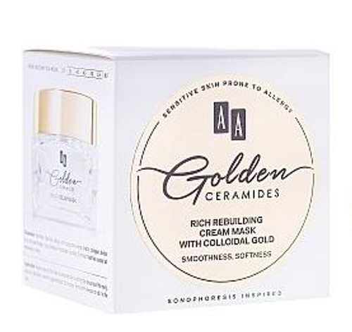 AA Golden Ceramides Rich Rebuilding Cream Mask with Colloidal Gold, Smoothness, Softness, 1.7 Oz