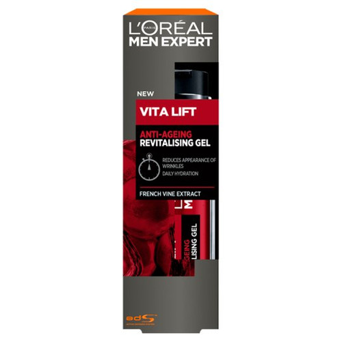 L'Oreal Men's Expert Vitalift Anti-Aging Revitalizing Gel with French Vine Extract, 50 Ml