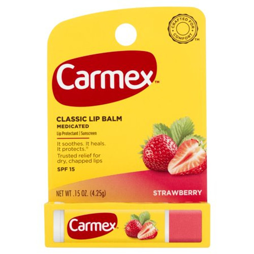 Carmex Original Lip Balm SPF 15, Strawberry, 0.15 oz