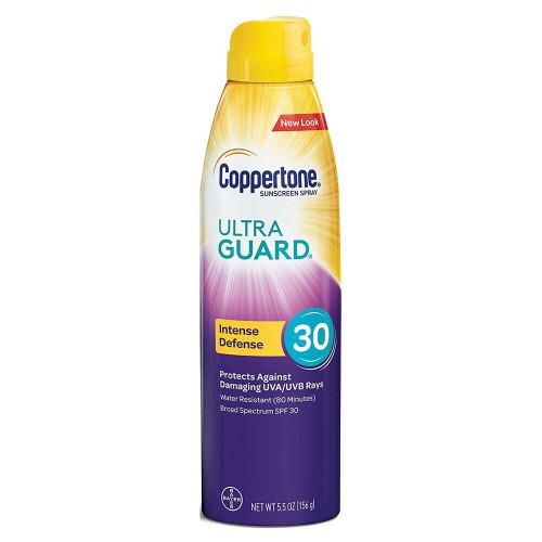 Coppertone Ultra Guard Intense Defense Sunscreen Spray SPF 30, 5.5 oz