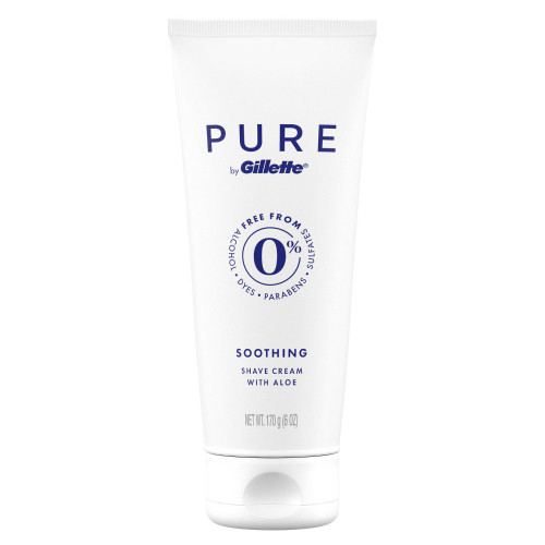 Gillette Pure Soothing Shave Cream with Aloe, 6 oz