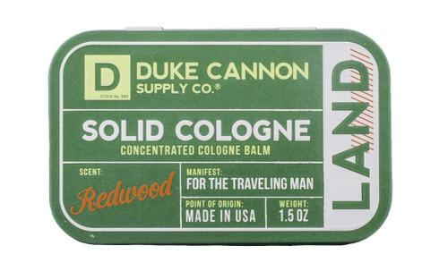 Duke Cannon Men's Solid Cologne Concentrated Cologne Balm, Redwood, 1.5 oz