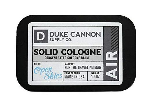 Duke Cannon Men's Solid Cologne Concentrated Cologne Balm, Open Skies, 1.5 oz