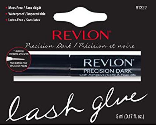 Revlon Precision Dark, Mess Free, Latex Free Waterproof Lash Glue, 0.17 oz