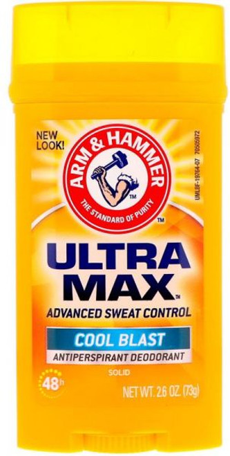 Arm & Hammer Ultramax Antiperspirant & Deodorant Invisible Solid, Cool Blast, 2.6 oz