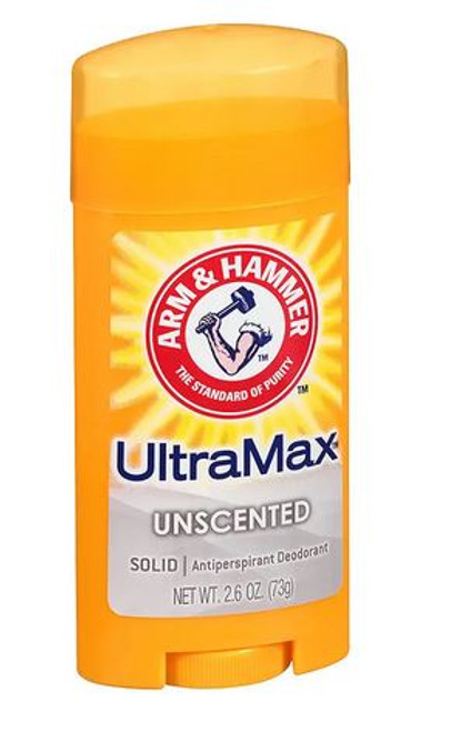 Arm & Hammer Ultramax Antiperspirant & Deodorant Invisible Solid, Unscented, 2.6 oz