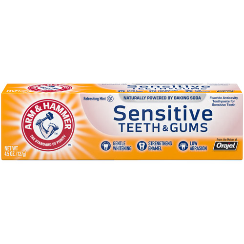 Arm & Hammer Sensitive Teeth & Gums Fluoride Anti-Cavity Toothpaste, Refreshing Mint, 4.5 oz